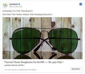 Sunglasses-testo-inserzione-facebook