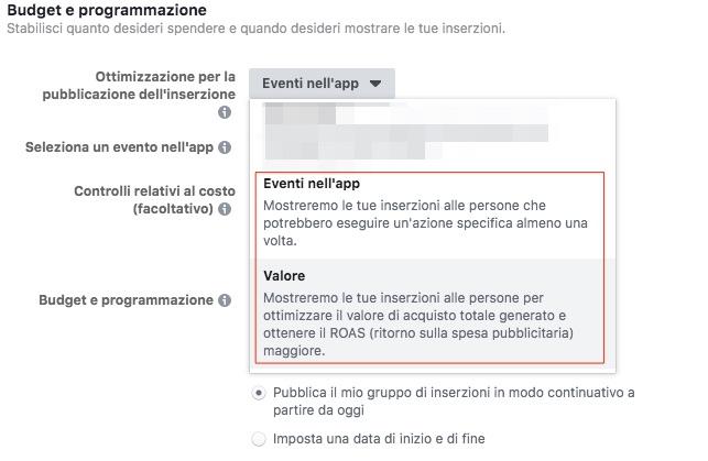 ottimizzazione inserzioni facebook