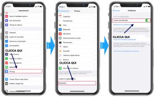 Limita Raccolta Dati iOS