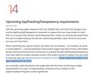 AppTrackingTransparrency - iOS 14
